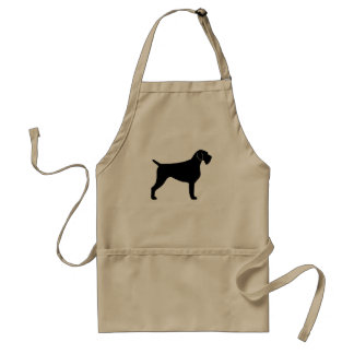 German Wirehaired Pointer Silhouette Adult Apron