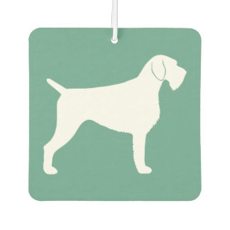 German Wirehaired Pointer Silhouette Car Air Freshener
