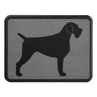 German Wirehaired Pointer Silhouette Tow Hitch Cover