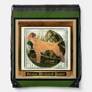 German Wirehaired Pointer Sport of It Drawstring Backpack