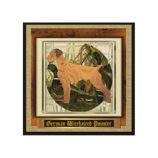 German Wirehaired Pointer Sport of It Wood Wall Decor