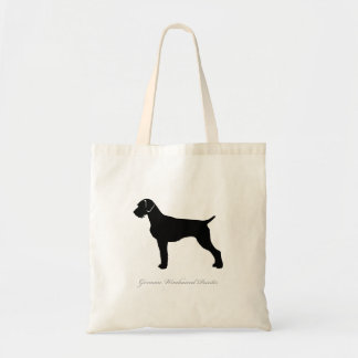 German Wirehaired Pointer Tote Bag (black)