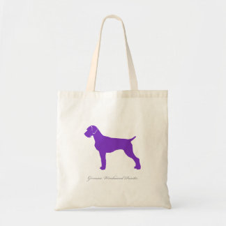 German Wirehaired Pointer Tote Bag (purple)