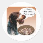 German Wirehaired Pointer Turkey Sticker