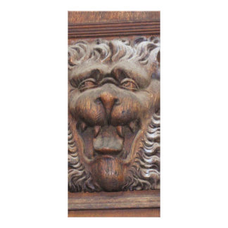 German WOOD CARVING - LION Medieval architecture Rack Card