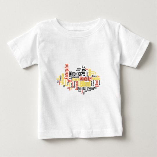 German Word Cloud - Deutsche Wortwolke Baby T-Shirt