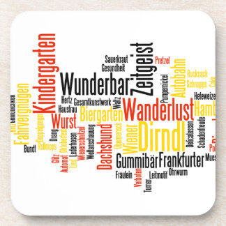 German Word Cloud - Deutsche Wortwolke Coaster