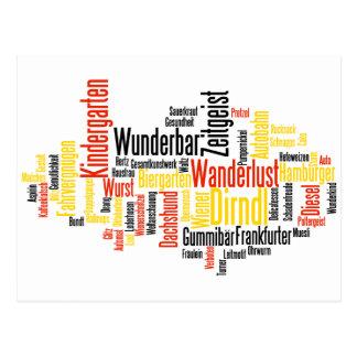 German Word Cloud - Deutsche Wortwolke Postcard