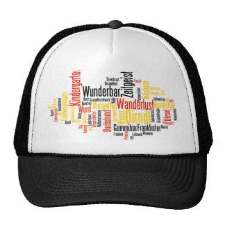 German Word Cloud - Deutsche Wortwolke Trucker Hat