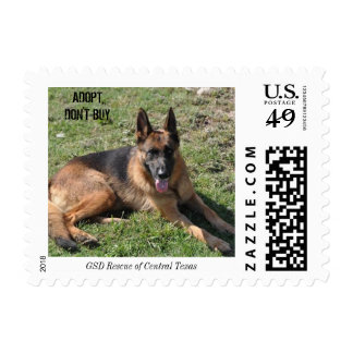 Germand Shepherd Rescue CTX postage stamp adoption