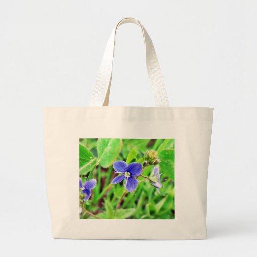Germander Speedwell Flower Tote Bags