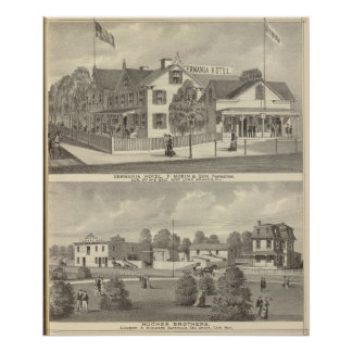 Germania Hotel, Long Branch and Hughes Brothers Poster