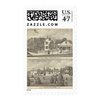 Germania Hotel, Long Branch and Hughes Brothers Stamp