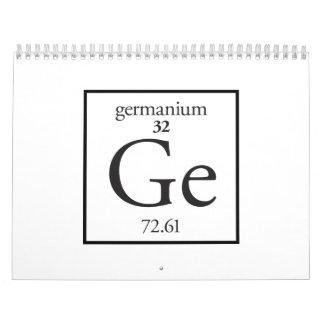 Germanium Wall Calendars