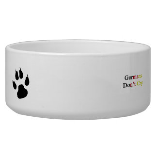 Germans Don't Cry Pet Water Bowls