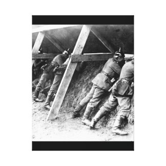 Germans in their well protected_War image Canvas Print