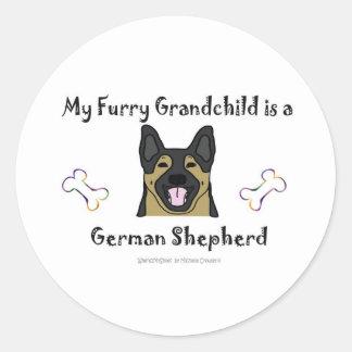 GermanShepherd Classic Round Sticker