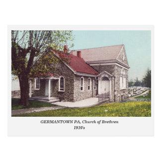 Germantown PA, Church of Brethren old  postcard