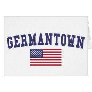 Germantown US Flag Card