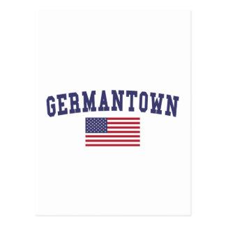 Germantown US Flag Postcard
