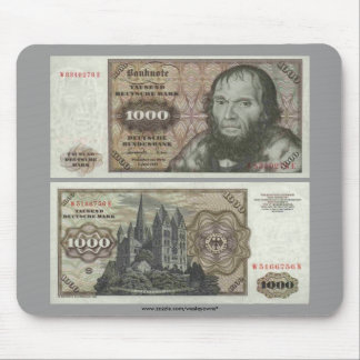 Germany 1000 Mark Note Mouse Pad