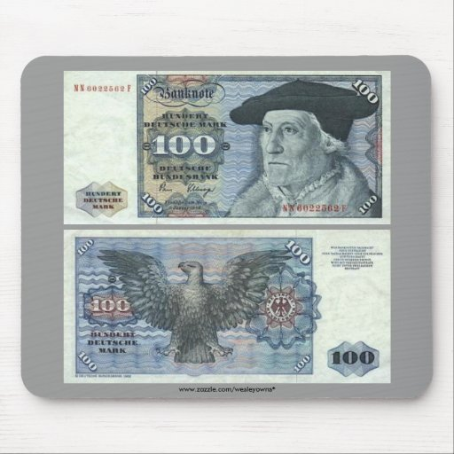 Germany 100 Mark Note Mouse Pad