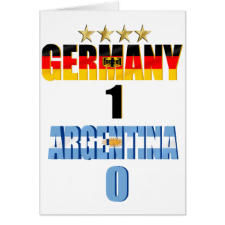 Germany 1 Argentina 0 World Champions 4 Star Card