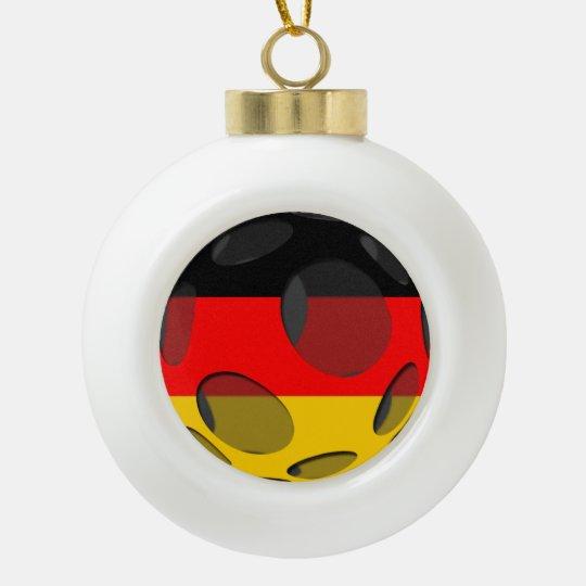 Germany #1 ceramic ball christmas ornament