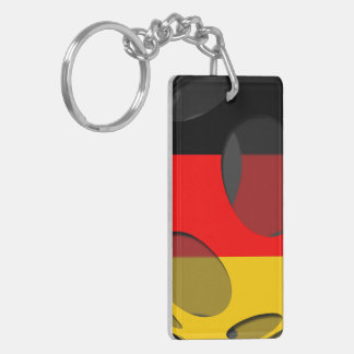 Germany #1 Double-Sided rectangular acrylic keychain