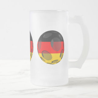 Germany #1 frosted glass beer mug