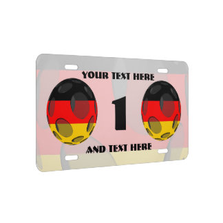 Germany #1 license plate