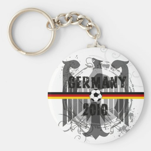 Germany 2010 German flag eagle soccer gifts Basic Round Button Keychain