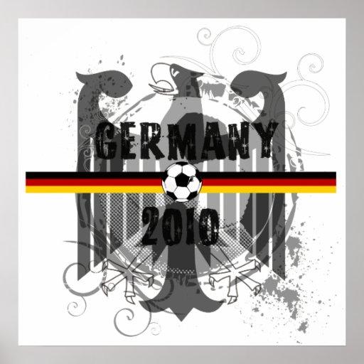 Germany 2010 German flag eagle soccer gifts Poster