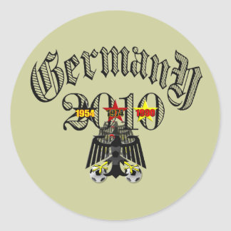 Germany 2010 logo tees and gifts round stickers
