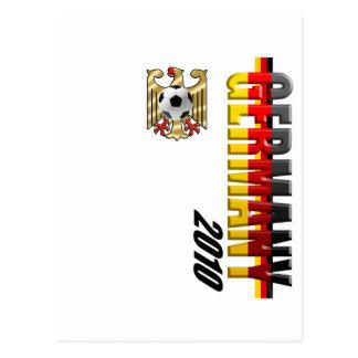 Germany 2010 Vertical Logo football gifts Postcard