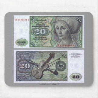 Germany 20 Mark Note Mouse Pad