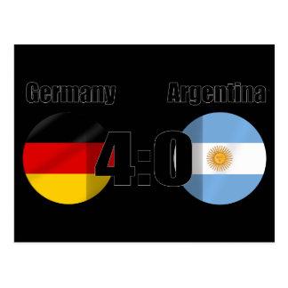 Germany 4 Argentina 0 Postcard