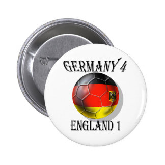 Germany 4 England 1 Soccer Football tees & gifts Button