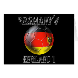 Germany 4 England 1 Soccer Football tees & gifts Cards