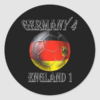 Germany 4 England 1 Soccer Football tees & gifts Round Sticker