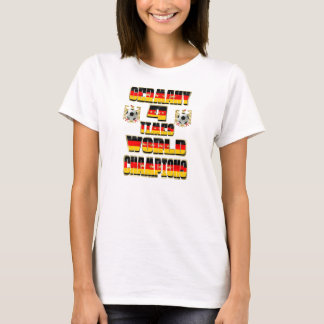 Germany 4 Times World Champions 2014 Football T-Shirt