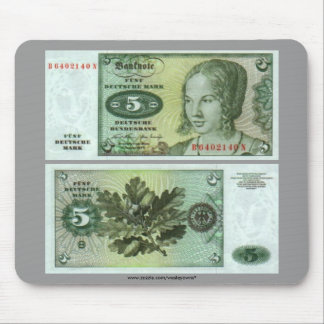 Germany 5 Mark Note Mouse Pad