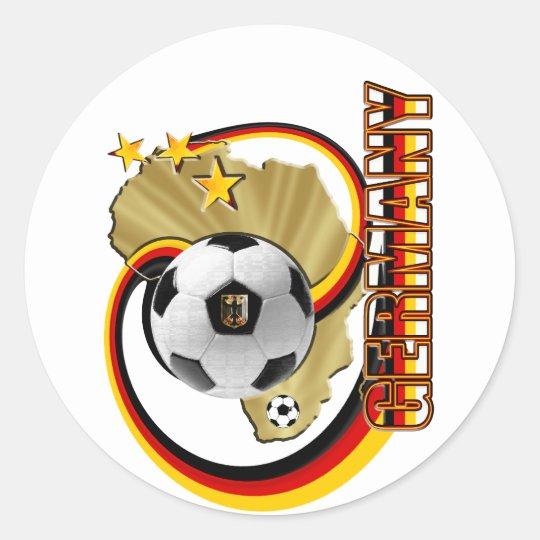 Germany Africa Artwork Soccer 2010 Design Classic Round Sticker