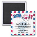 Germany Air Mail Wedding Save the Date Refrigerator Magnet