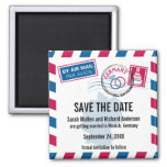 Germany Air Mail Wedding Save the Date Magnets