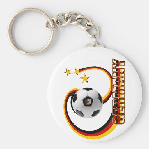 Germany alternate blended soccer logo key chains