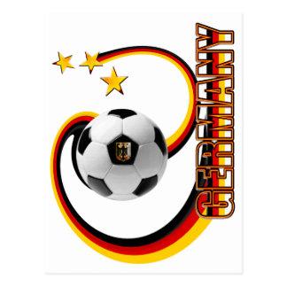 Germany alternate blended soccer logo post card