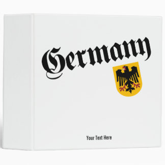 Germany and Crest 3 Ring Binders