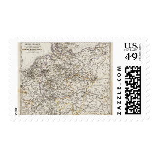 Germany and neighboring countries postage stamp