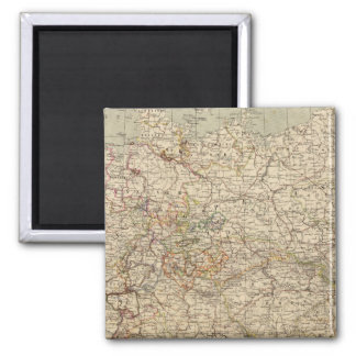 Germany Atlas Map 2 Inch Square Magnet